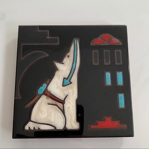 Cleo Teissedre Hand-painted Ceramic Tile Trivet